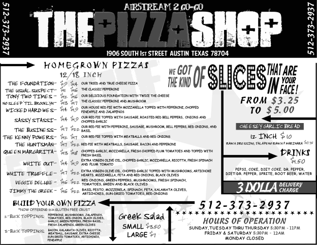 The Pizza Shop Flyer_Menu_Revision_TWO_BW